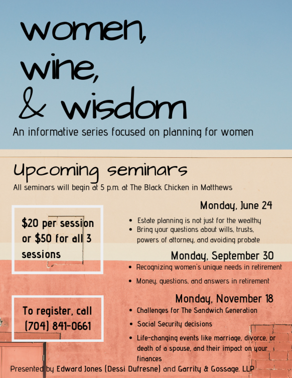 Women, Wine, & Wisdom – The Sandwich Generation – Garrity